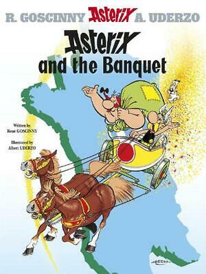 Asterix and the Banquet: Album 5 by Rene Goscinny (English) Hardcover Book Free