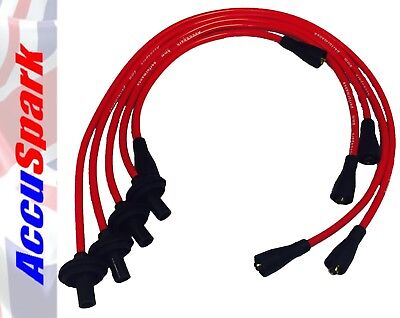 VW Camper, Bus,Van  8mm AccuSpark Red Silicon Performance HT Lead set