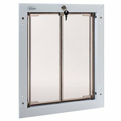 Plexidor Premium DOOR Mounted White Pet Doors in 4 Sizes