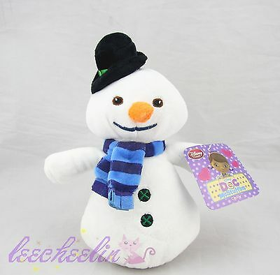 New Disney Store Doc McStuffins Chilly Snowman Plush Doll Adorable Good Gift