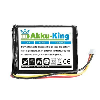 Akku-King Akku für TomTom ONE XL EUROPE DACH TML MAXWELL IPC653443 - Li-Ion