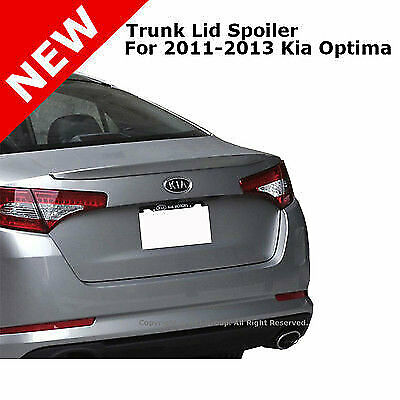 For 11-13 Kia Optima Flush Mount Rear Trunk Tail Lip Spoiler Unpainted Primer