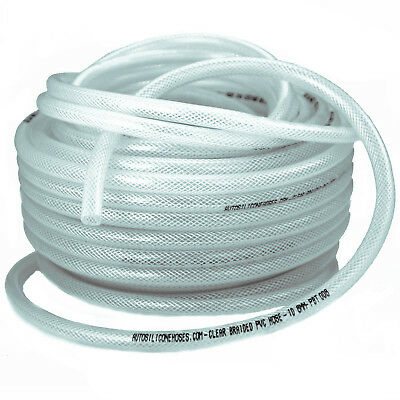 Reinforced Clear PVC Braided Hose - Water Flexible Plastic Food Air Oil Tube