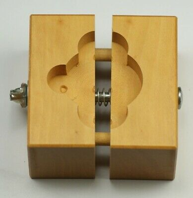 Wooden watchmakers CASE & MOVEMENT HOLDER clamp repairing vintage watch wood
