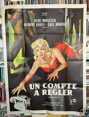 JAYNE MANSFIELD/ THE CHALLENGE/french poster