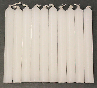 """Lot of 10 Chime Spell Candles: Bright White, Mini 4"""" (NEW) Wicca, Altar, Ritual"""