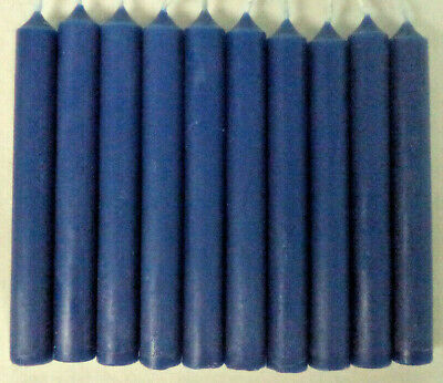 """Lot of 10 Chime Spell Candles: Dark Blue , Mini 4"""" (NEW) Pagan, Wicca, Altar"""