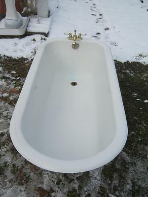 Antique 5 1/2'+ Cast Iron White Porcelain Tub Old Bath Vintage Bathroom  2659-13