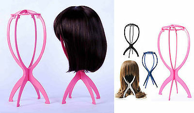 Wig Display Stand Dummy Head  Mannequin Hair Holder Folding Stable Easy to Carry