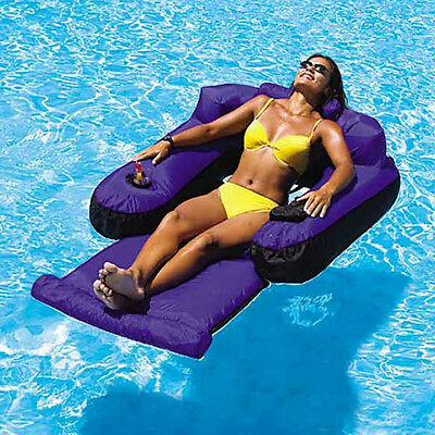 New Floating Pool Lounge Beach Water Chair Swimline Pool Inflatable Lounger Raft