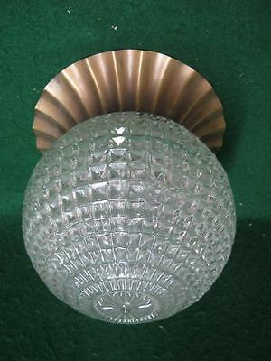 Vintage Crystal Mid Century Shabby Cut Glass Ceiling Light Fixture Chic 2666-13
