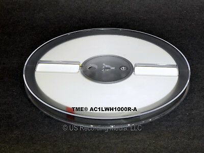 "Open Reel Audio Leader Tape Solid White 1/4"" X 1000 Ft on 7"" Reel TME New!"