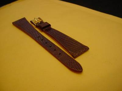 Ladies Speidel NOS 16mm R545830LBR Brown Genuine Lizard Leather Watch Band W2479