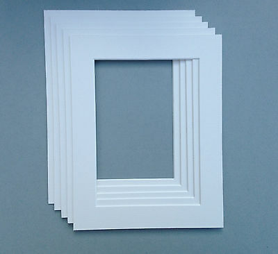 10 X 10 Inch White Mounts to fit 6 x 6 Photo & Picture - 5 PACK