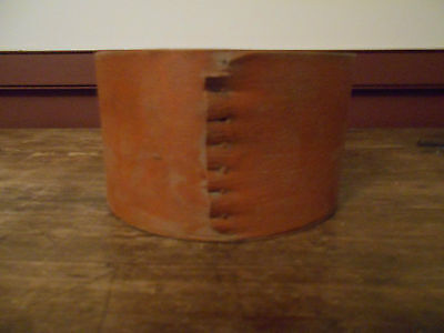 Early Antique Primitive Dry Measure Or Pantry Box With No Lid Old Persimmon Pai
