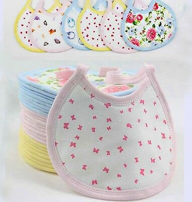 New Baby bibs lot baby boy girl bibs 3-absorbing layer Kid saliva towels Cotton