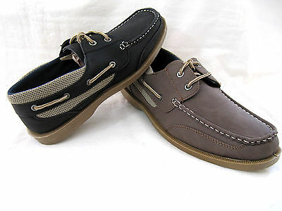 New CORONADO Men's Boat Casual Moccasin Lace Up Shoes