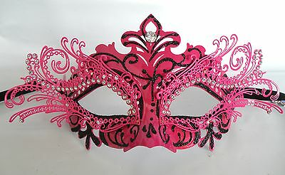 Venetian Masquerade Party Mask Purple With Black Outline NEW Express Post Option