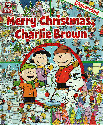 MERRY CHRISTMAS CHARLIE BROWN Look and Find NEW Snoopy LUCY Peanuts LINUS Book