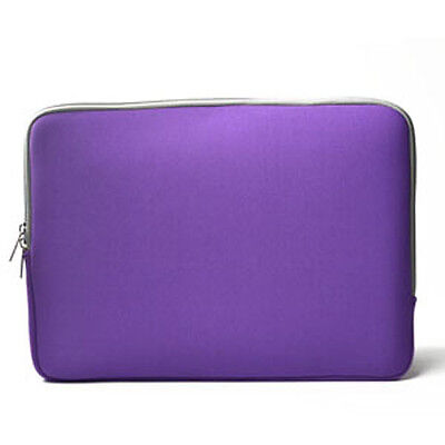 """PURPLE Zipper Sleeve Bag Case Cover for All Laptop 13"""" Macbook / Pro / Air"""