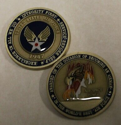 USAF Air Force Airman's Challenge Coin    St