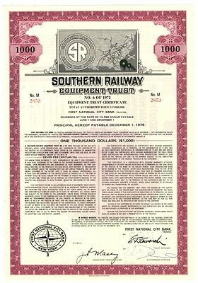 [42092] SOUTHERN RAILWAY EQUIPMENT TRUSTS No. 6 OF 1972 ($1000)