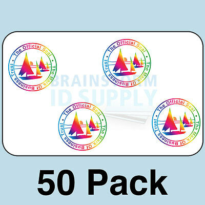 Mark of Business Trust ID Card Hologram Overlays (w/UV) for Teslin/PVC - 50 pack