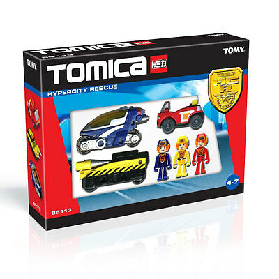 Childrens Tomy Tomica Hypercity City Small Emergency Rescue Vehicle Car - 85113