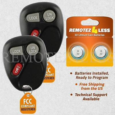 2 New Keyless Entry Remote Key Fob for Silverado Tahoe Yukon KOBLEAR1XT 15042968