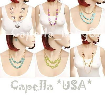 20PC *FREE SHIPPING* NEW WHOLESALE FASHION LOT JEWELRY NECKLACE EARRINGS SET