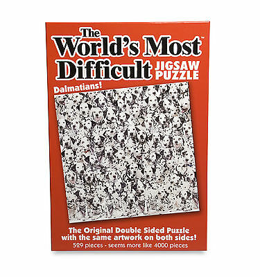 World's Most Difficult Double Sided Puzzle Dalmatians 529 Pieces. New & Sealed