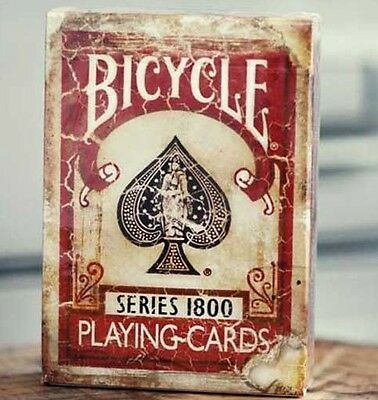 Bicycle Ellusionist Vintage Series 1800 RED US Playing Cards Poker Magic