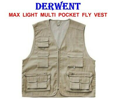Grandeslam Multi Pocket Waistcoat Game Fly Fishing Vest Hunting Jacket Wading