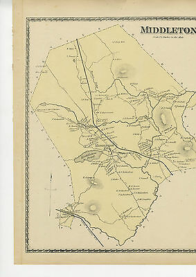 1872 Antique map of Middleton, Massachusetts, from Beers Atlas of Essex County