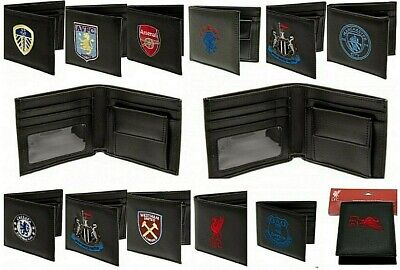 Fathers Gift Embroidered Leather Football Club Crest Sports Team Money Wallet