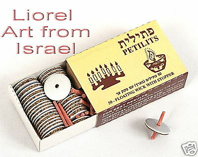 Lot 10 Packs Floating OIL WICKS Hanukkah/Shabbos Shabbat Jewish Menorah Candles