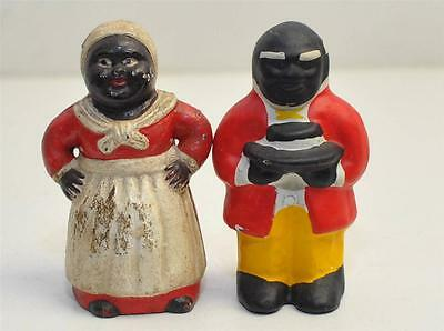 Vintage Cast Iron Black Americana Banks/ Paper Weights-Butler And Maid