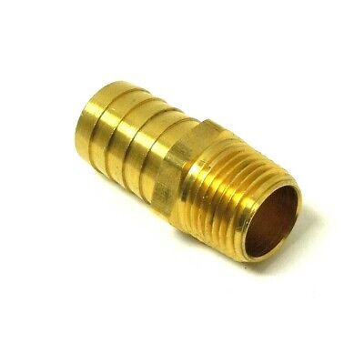 "HOSE BARB for 3/4"" ID HOSE X 1/2"" MALE NPT HEX BODY BRASS FUEL FITTING  201A-12D"