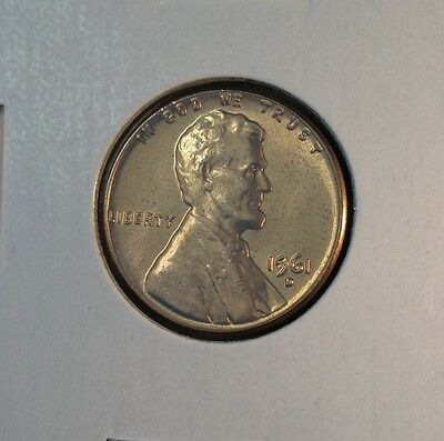 1961-D Lincoln Memorial Cent Uncirculated From Roll Copper Zinc Alloy Ungraded