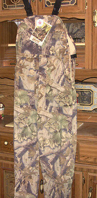 Photostalk Camouflage Hunting Bibs size Large wind/water/burr resistant & quiet