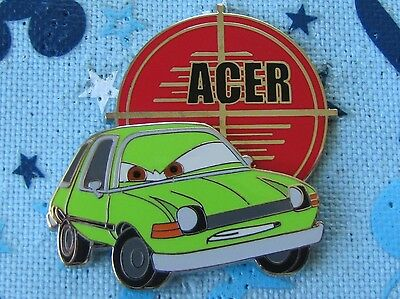 Disney LE 500 Trading Pin Pixar Cars 2 Mystery Chaser Acer Evil Green Car 85493