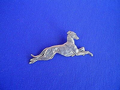 Whippet Greyhound Stylized Leaping pin #13D Dog Jewelry by Cindy A. Conter