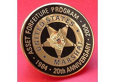 20TH ANNIVERSARY ASSET FORFEITURE PIN FREE SHIP IN USA