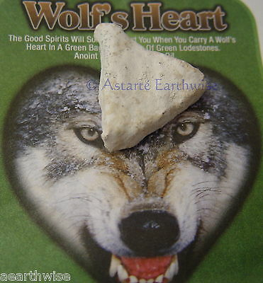 1 x INDIO WOLFS HEART IN ENVELOPE Wicca Witch Pagan Spell PROTECTION