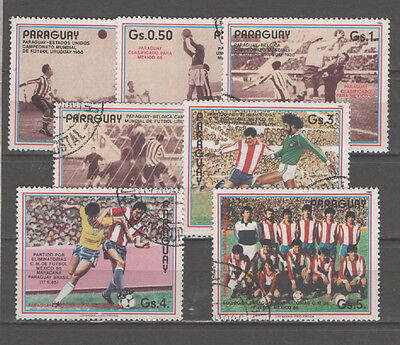 Paraguay stamp used Set - World Soccer Cup - 0336