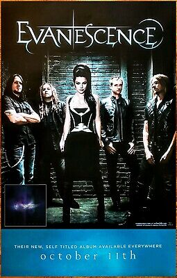 EVANESCENCE S/T Ltd Ed Discontinued New RARE Poster +FREE Rock/Metal Poster!