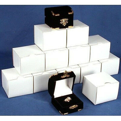 New lot of 1-5-10- 24-48-96-144 pcs Black velvet Ring Jewelry Display Gift Boxes