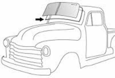 Windshield Rubber Weather Strip Seal W/Chrome Groove Ea 1947-53 Chevy/GMC Truck