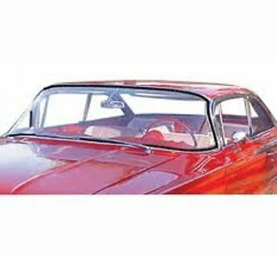 Windshield Rubber Weather Strip Seal W/Chrome Groove 1959-60 Chevy/Pontiac