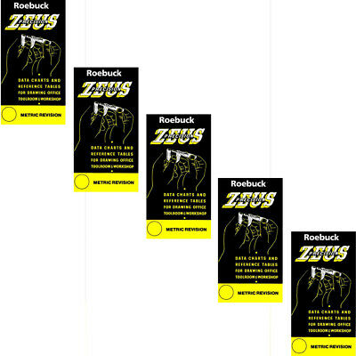 Zeus Precision Engineers Metric Data Book Chart Charts Reference Tables x 5